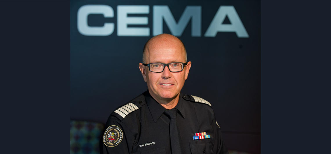 Chief Tom Sampson (retd) during his time as head of the Calgary Emergency Management Agency