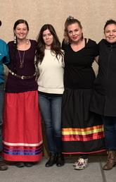 Karlee Fellner, fourth from left, associate professor in the Werklund School of Education, and her collaborators from the Siksikaitsitapi were awarded a SSHRC Indigenous Research Capacity and Reconciliation — Connection Grant.