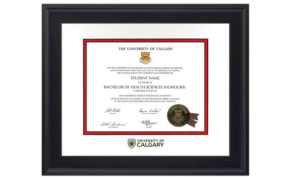 Degree Frames | Benefits | Alumni | University of Calgary