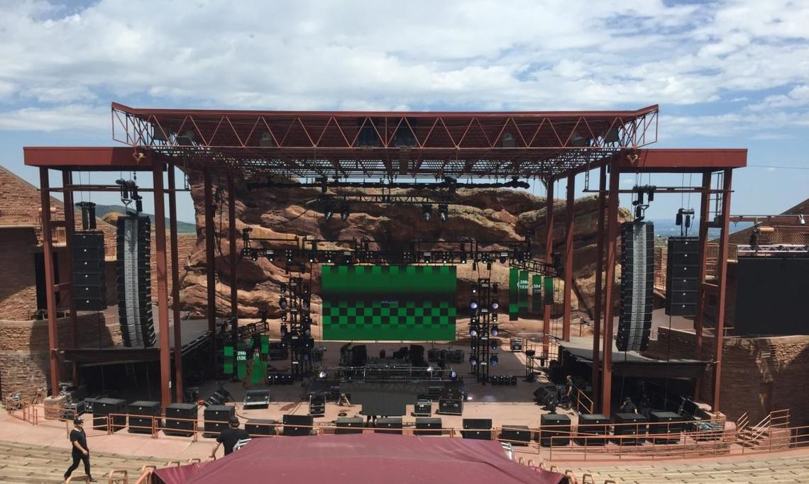 Red Rocks setup