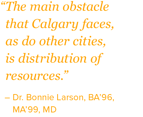 """The main obstacle that Calgary faces, as do other cities, is distribution of resources."""